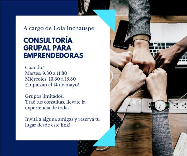Consultoría grupal para emprendedoras