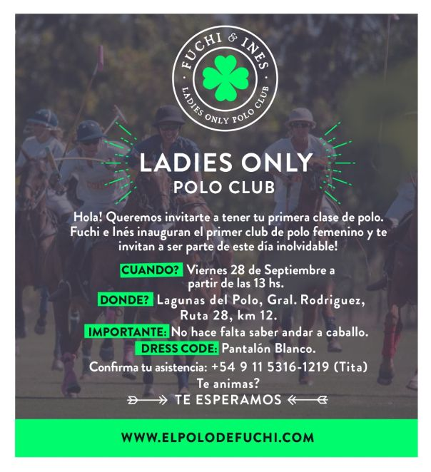 Polo de mujeres: Ladies only