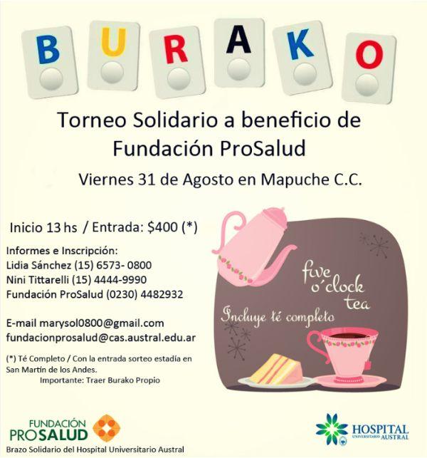 Burako a beneficio de Prosalud en Mapuche CC!
