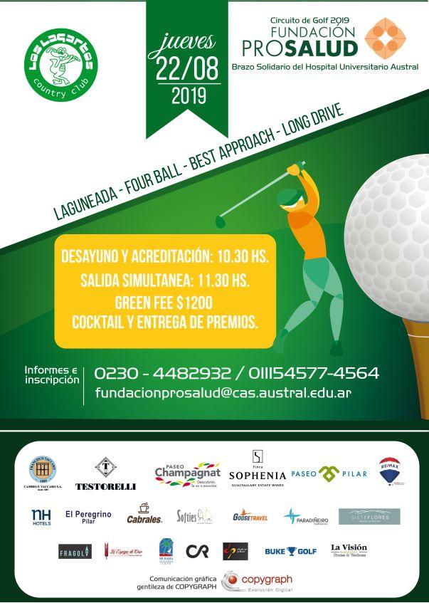 Torneo de golf a beneficio de Prosalud en Los Lagartos CC