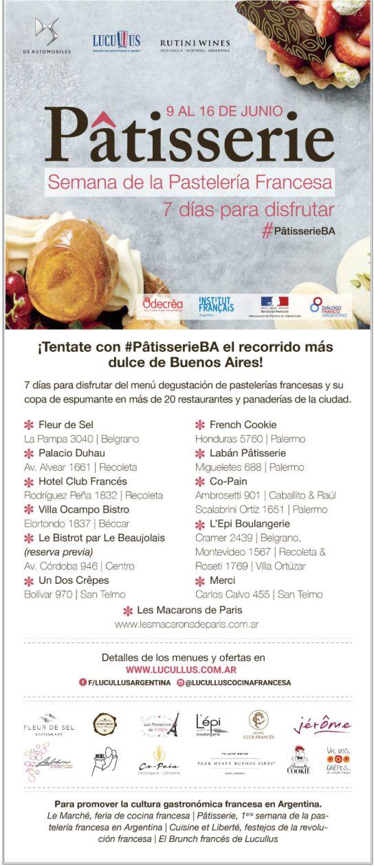 Semana de la Patisserie francesa en Buenos Aires