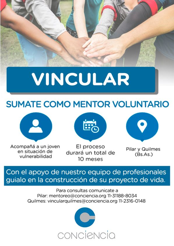 Mentor voluntario para la Fundación Conciencia