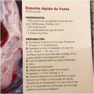 Espuma de frutos rojos en 4 minutos!